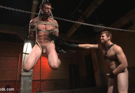 Bondage and deep penetration sex positions
