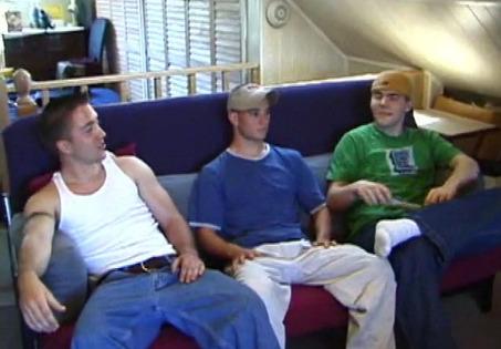 Curious Gay Trio Banging
