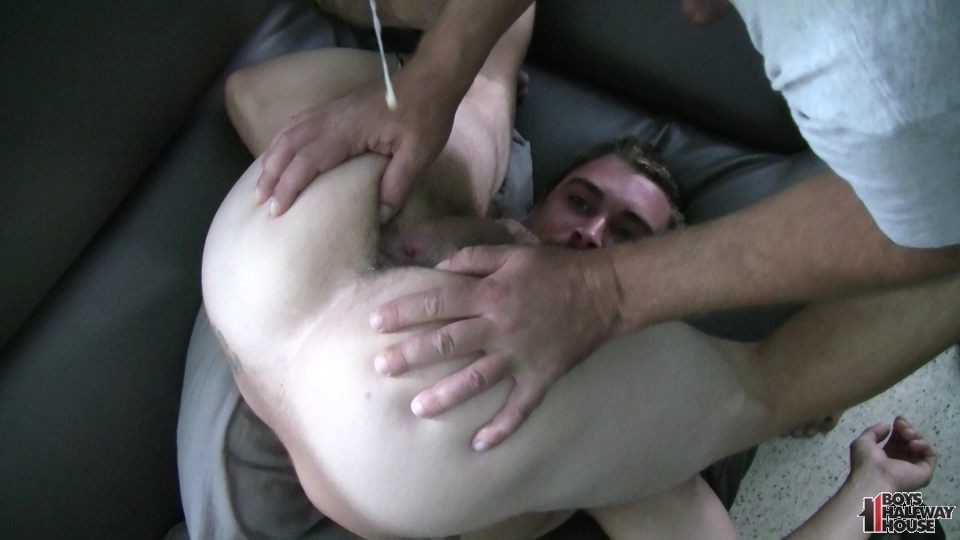 gay eating cum