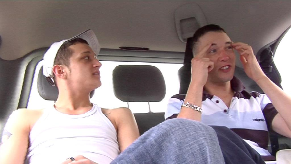 Kristian And Callum In A Car