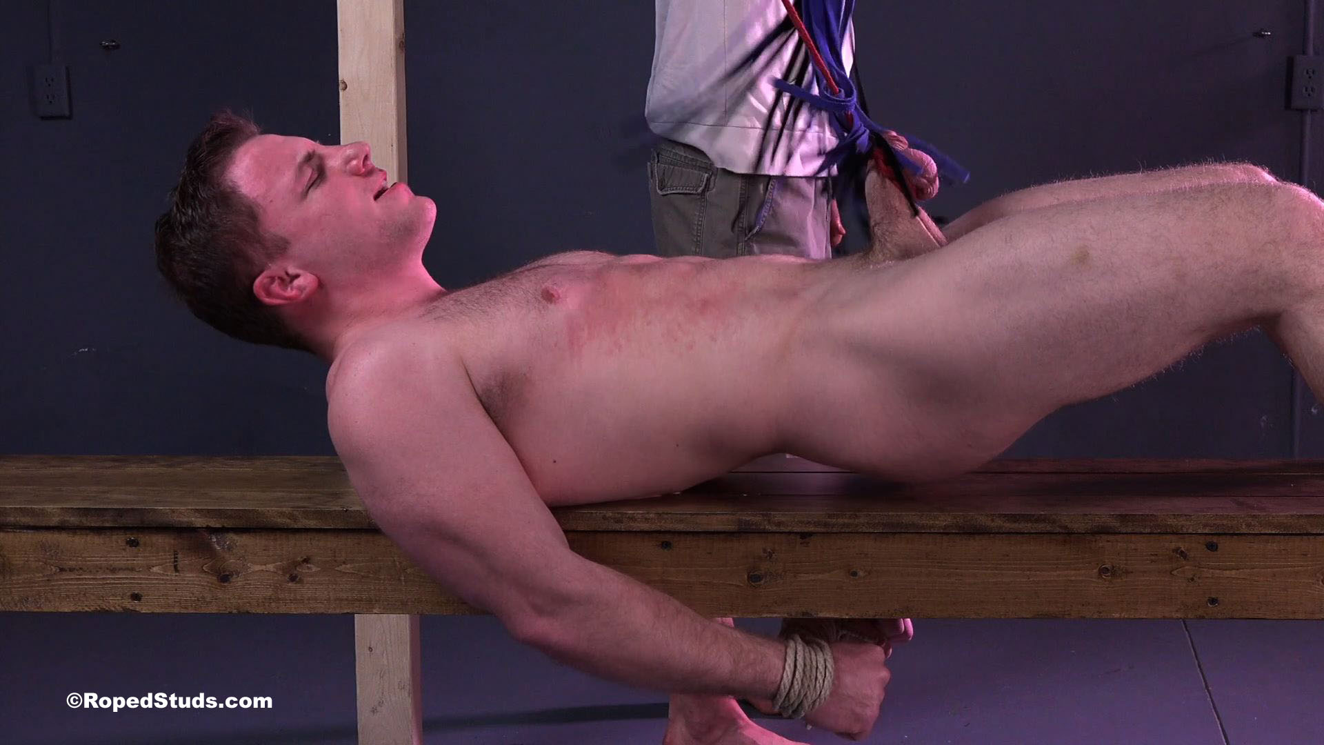 Free suspended by balls bdsm video